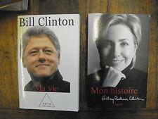 Lot de 2 livres Bill Clinton Ma vie + Hillary Rodham Clinton Mon histoire
