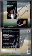 Mariss JANSONS, Yefim BRONFMAN Signed TCHAIKOVSKY CD Piano Concerto 1 Symphony 4