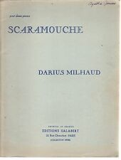 Darius Milhaud's Scaramouche For Two Pianos Sheet Music