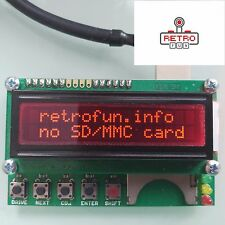 ATARI SIO2SD Disk Drive Emulation + SIO plug and cable - READY TO USE PnP - RED