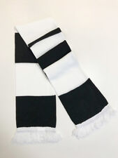 Jacquard Knitted,Fan,Football,Supporter, Black White Bar Scarf- Fulham FC