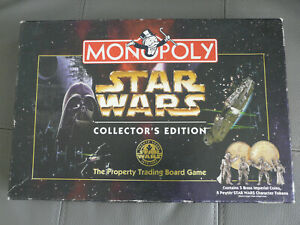 MONOPOLY STAR WARS COLLECTOR'S EDITION 1997 en anglais COMPLET