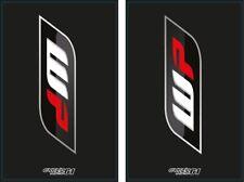 Autocollants Stickers de Fourche moto épais WP Noir (KTM SX EXC Husquvarna...)