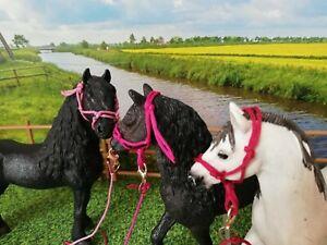 Barock Knotenhalfter Halfter Zubehör passend für Schleich Pferde Schleichpferde