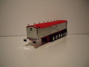 DCP FIRST GEAR 1/64 6 AXLE CHROME WITH RED TARP MAC TRAILERS COAL DUMP