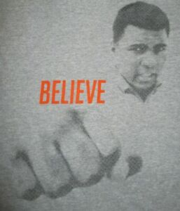 """MUHAMMAD ALI """"BELIEVE"""" 12/5/11 Colins Center SAY YES Youth Center (LG) T-Shirt"""