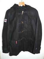 Superdry Rookie Duffle Coat Navy Size Large rrp £99.99 DH004 AA 11