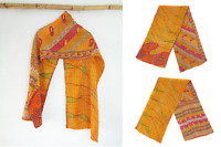 Handmade Indian Cotton Vintage Kantha Scarf Sari Shawl Scarves Stole Neck Wrap