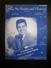 Play Me Hearts And Flowers I Wanna Cry Sheet Music Vintage 1955 Sanford Green O