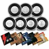 AC/DC 2020 2021 20c Uncirculated 7 - Coin Collection Coloured Coin Box Set