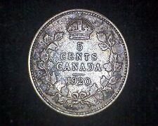 1920 CANADA 5 CENTS KM#22a -80% SILVER #14362