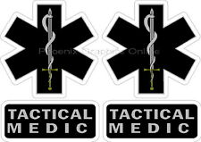 Tactical Medic Helmet Decal Sticker Set Reflective SWAT Rescue EMS Paramedic