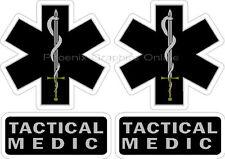 Tactical Medic Helmet Decal Sticker Set Reflective SWAT Rescue EMS Paramedic