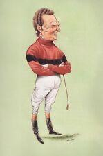 JONJO O'NEILL Horse Racing caricature print John Ireland image 19cm x 27cm