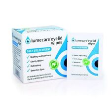 60 Lumecare eye lid wipes 3 boxes of 20 sachets each Lid cleansing eyelid