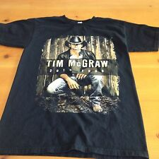 Tim McGraw Countdown To Sundown 2014 Concert Tour Black Tee Shirt Size Small