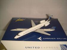"""Gemini Jets 400 United Express ExpressJet Airlines ERJ-145LR """"Merge color"""" 1:400"""