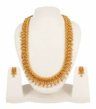 PN- 2422  Indian 22K Gold Plated Wedding Necklace Earrings Jewelry Set