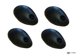4 x Rubber Mouse Buffer Black Oval Trailer Truck Door Stop Tipper Horsebox Tail