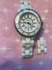 chanel J12 white ceramic women's watch