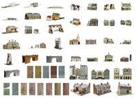 SuperQuick OO/HO building card kits for model railway (51 models)