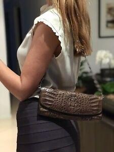 Crocodile Leather Clutch