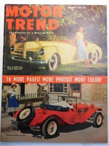 MOTOR TREND MAGZINE - JANUARY, 1952 - VINTAGE ITALIAN LANCIA