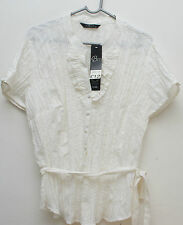Stunning Bm UK size 18 White Ladies Crinkle  top New with Tag
