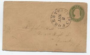 c1860 U18a 10 cent nesbitt Forest City CA [6026.9]