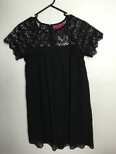 """Boohoo"" Black Swing Dress"