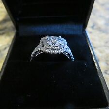 1.74 TCW Sylvie Diamond engagement ring Brilliant F color SI1 clarity GIA pd 13k