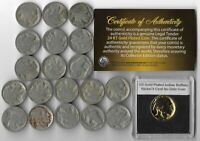 20 Roll US Buffalo Indian Nickel Coin Collection Gold BLACK FRIDAY DEALS LOT:302