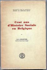 Cent ans d'histoire sociale en Belgique Chlepner Université libre de Bruxelles