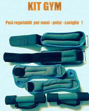 PESI PER CAVIGLIE E POLSI  + MANUBRI 2 PEZZI 0,50 KG CAD FITNESS PALESTRA KIT !!