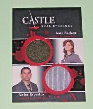 CASTLE Seasons 1 & 2 Cryptozoic : Dual Wardrobe Card Beckett & Esposito DM08