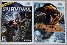 Nintendo Wii Lot - Cabela's Survival (New) Cabela's Dangerous Hunts 2013 (New)