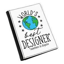 World's Best Designer Passport Holder Cover Case Funny Favourite Graphic Design