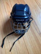 "Bauer Bhh2100S Ice Hockey Helmet Black, with Cage 6 1/2"" To 7 1/8"" Adjustable"