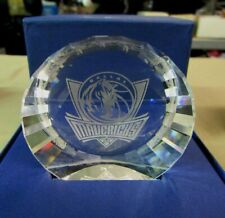 New 3.5 oz Dallas Mavericks Swarovski Crystal 1/2 Ball Paperweight in Box