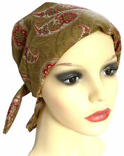 LIGHTLY PADDED COTTON HEAD SCARF -, SUITABLE FOR CHEMO, HAIR LOSS, MOSS/RAS.PAIS