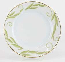 Bernardaud Limoges Frivole Green Leaves & Swirls Gilded China Salad Plate H05