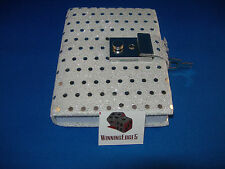 NEW WHITE SEQUIN DIARY WITH A BUILT IN LOCK AND 1 KEY FREE SHIPPING