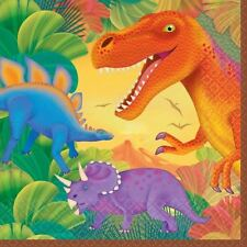 16pk Prehistoric Party Luncheon Napkins Dinosaur Dino Birthday Party Tableware