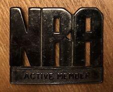 Vintage 1970's NRA National Rifle Association Active Member Metal Belt Buckle