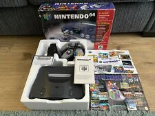 Nintendo 64 N64 Console Cables Controller Manuals Boxed Complete & 2x Leaflets