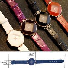 New Fashion Women Leather Band Analog Quartz Diamond Wrist Watch Watches 2019 AU