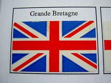 50 Drapeaux adhésifs GRANDE BRETAGNE GB 37 x 22 mm, lot mini flags auto-collants