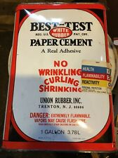 BEST TEST Rubber Cement 1 Gallon About 3/4 Full Glue