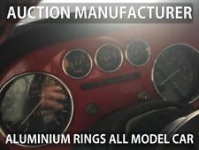 Lancia Fulvia 1963-1976  5- Teilig Aluminium Tachoringe / Tacho Ringe