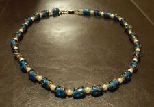 Blue Murano Glass Beaded Necklace